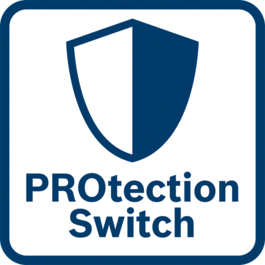 Outstanding user protection The protection switch instantly switches the machine off when it is released