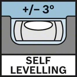 Self Levelling 3° Self-levelling ± 3°